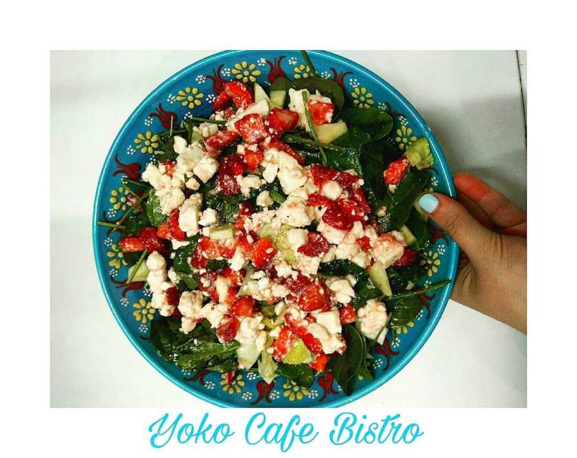 Strawberry salad at Yoko Cafe Bistro (facebook.com - YokoCafeBistro)