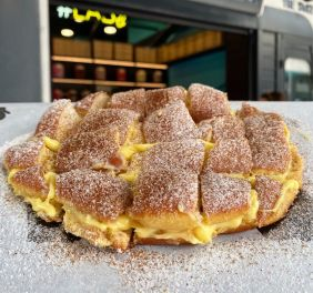 Fried dough + custard cream + cinnamon + sugar = tears of joy